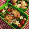 Tofu Gingerbread Men Vegan Bento
